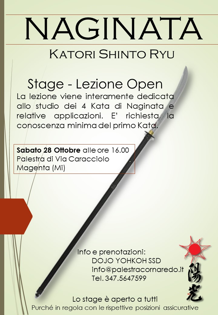 Stage Naginata 28ott2017